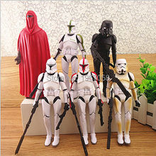 Hot my lovely 6pcs/set little Star Wars Yoda The Black Knight Clone Trooper PVC Action Figures Toys Dolls poni Kids GIft