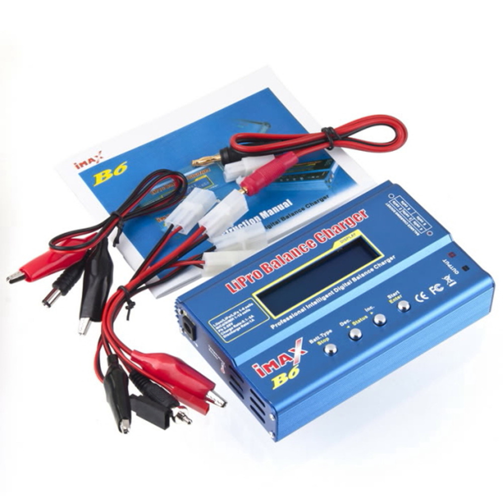 1 Set High Qaulity iMAX B6 Lipo NiMh Li-ion Ni-Cd RC Battery Balance Digital Charger Discharger Free Shipping(China (Mainland))