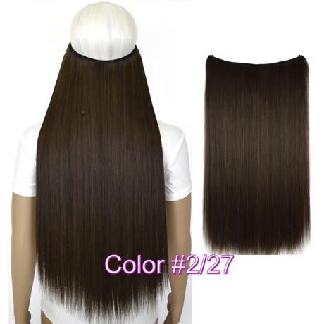 """Верхние термостойкие B5 синтетические волосы 20 """"50 см 50 г эластичность невидимая 2-27"""