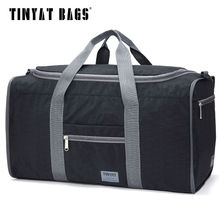 Buy TINYAT Male Men Travel Bag Folding Bag Protable Molle Women Tote Waterproof Nylon Casual Travel Duffel Bag Black T-306 for $16.43 in AliExpress store