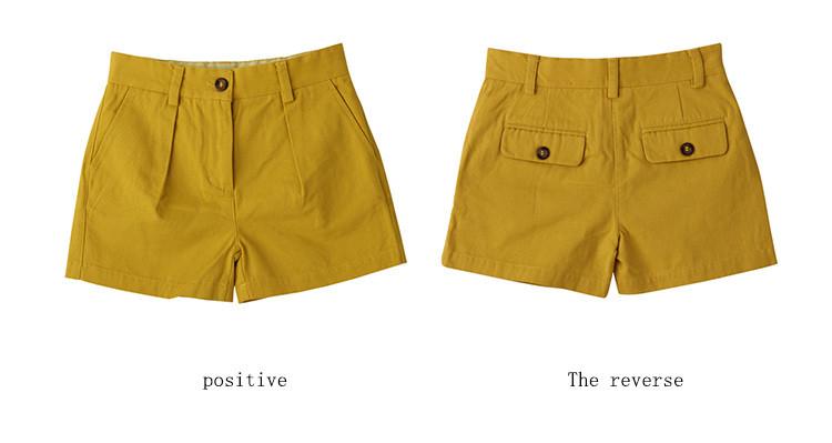 girls yellow shorts