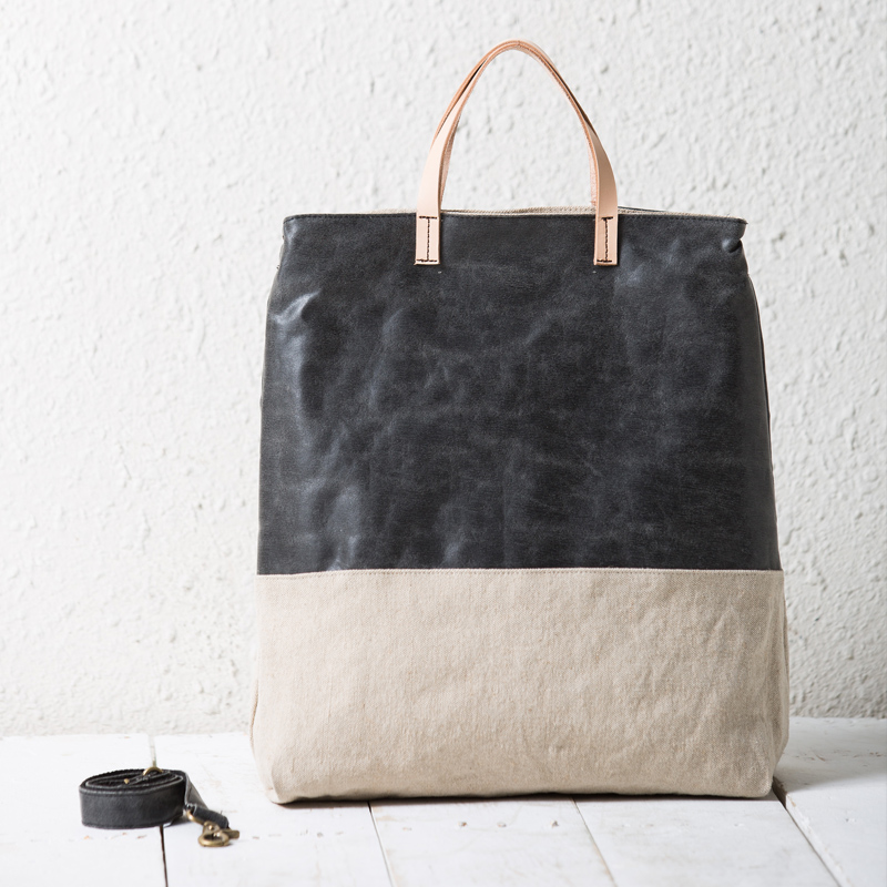 Online Buy Wholesale linen leather tote bag from China linen ...