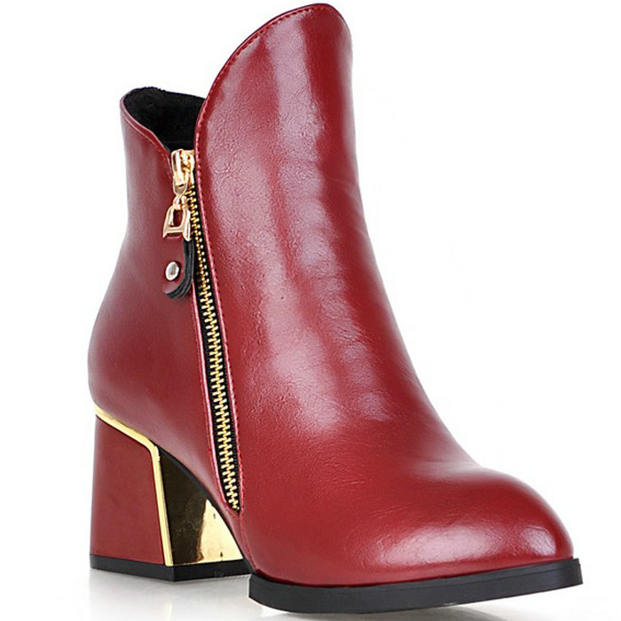 zapatos mujer Gladiator Shoes Woman Chunky Heel High Heeled Shoes Autumn Winter Women Ankle Boots Platform Pumps Shoes