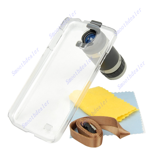 Free Shipping 8X Zoom Phone Camera Lens Telescope For Samsung Galaxy S IV S4 i9500 With Case