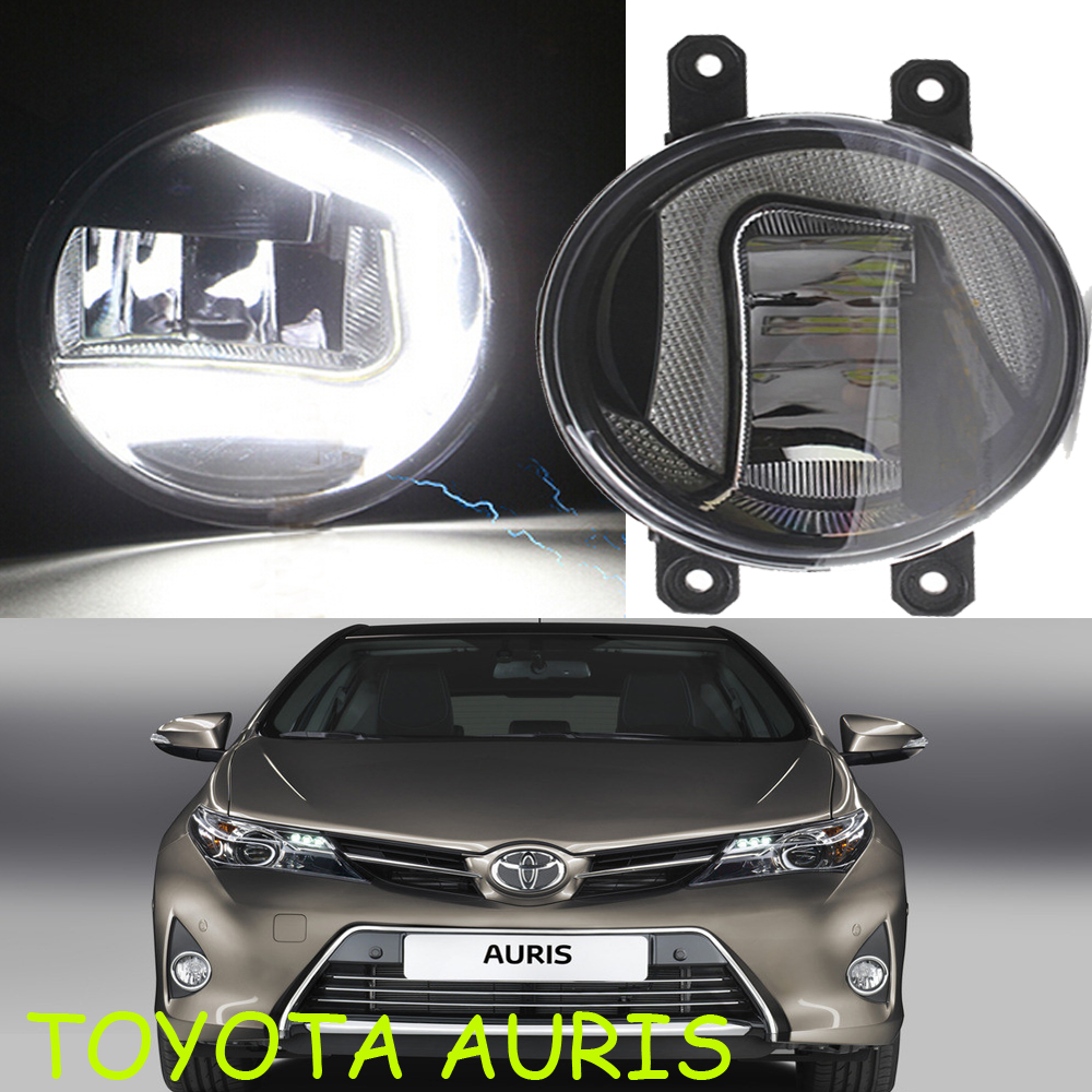 Osram 2008~2014Toyota Auris LED daytime running light,2pcs/set+wire of harnes,12V,7W DRL 8000K+15W 6000K Fog,alloy+ABS,Free ship<br><br>Aliexpress