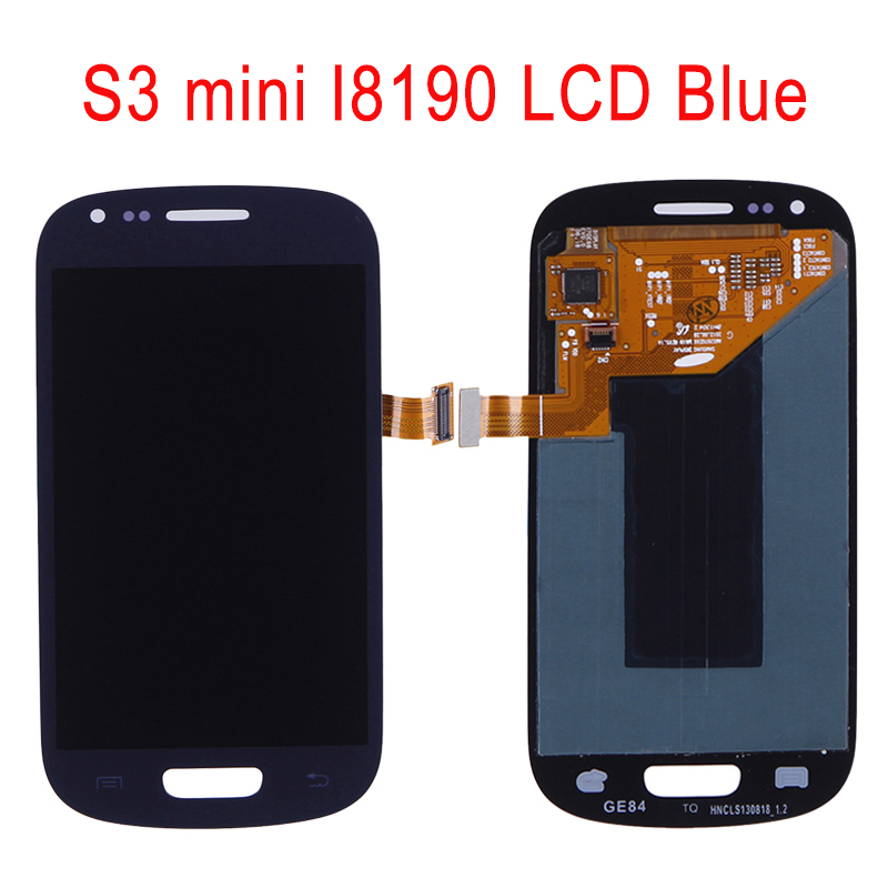 LCD Display Touch screen Digitizer AssemblyFor Samsung Galaxy s3 mini i8190 LCD Free Shipping Blue(China (Mainland))