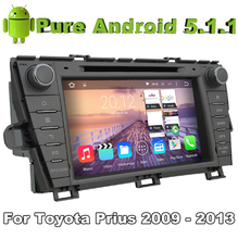 Quad Core 2 Din Android 5.1 Car DVD Automotivo For Toyota Prius 2009 2010 2011 2012 2013 With 2G ROM Radio Stereo GPS Navigation(China (Mainland))