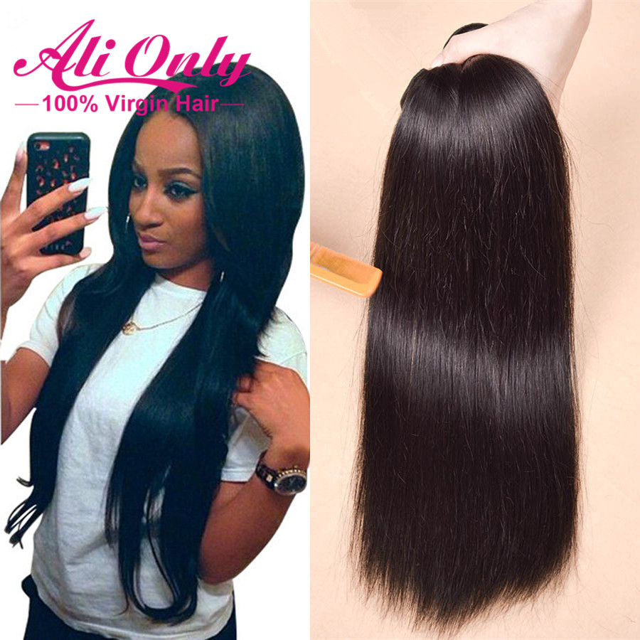 6A Unprocessed Virgin Brazilian Straight Hair Weave 8-30 2 Bundles Lot No Shedding&amp;Tangle Queen Hair Beauty Weave Products<br><br>Aliexpress