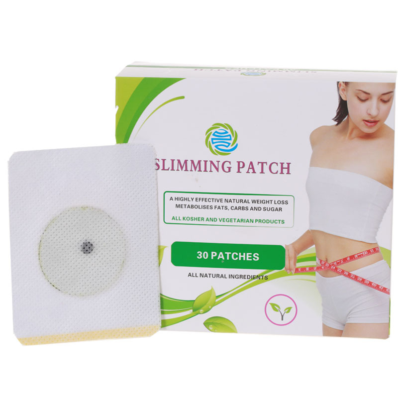 30 Patches / Box Natural Ingredients Slimming Navel Stick Slim Patch Weight Loss Fat Burning Products(China (Mainland))