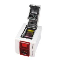 Evolis Zenius Classic Single Sided ID Printer USB Interface Fire Red