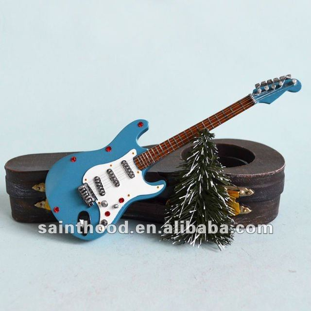 Resin Gibson Guitar Candle Holder for Graduates Souvenir