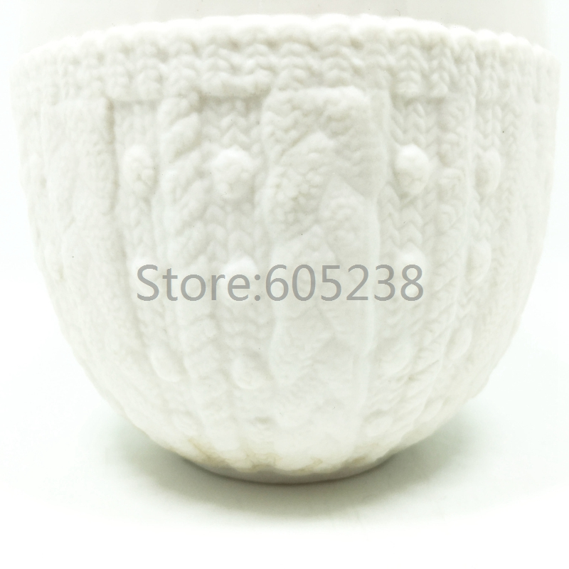 New arrival 150Pieces wholesale Couture Knit Cup Double Wall Dress Lace Ceramic Mug Coffee Cup(China (Mainland))