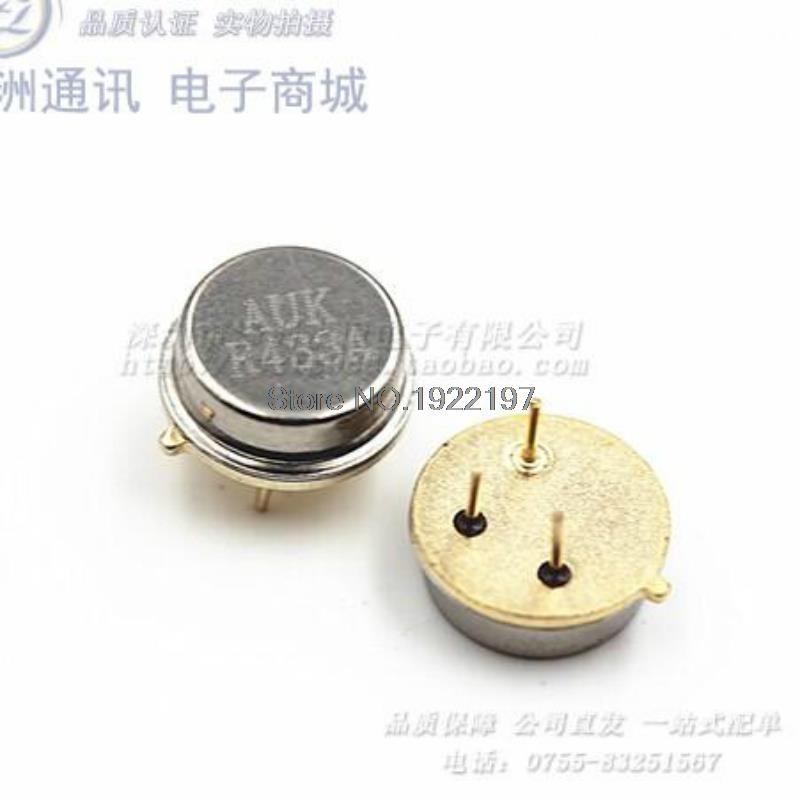 Round 433MHZ remote control acoustic resonator filter table crystal R433A TO 39 3 feet (25pcs / lot)(China (Mainland))