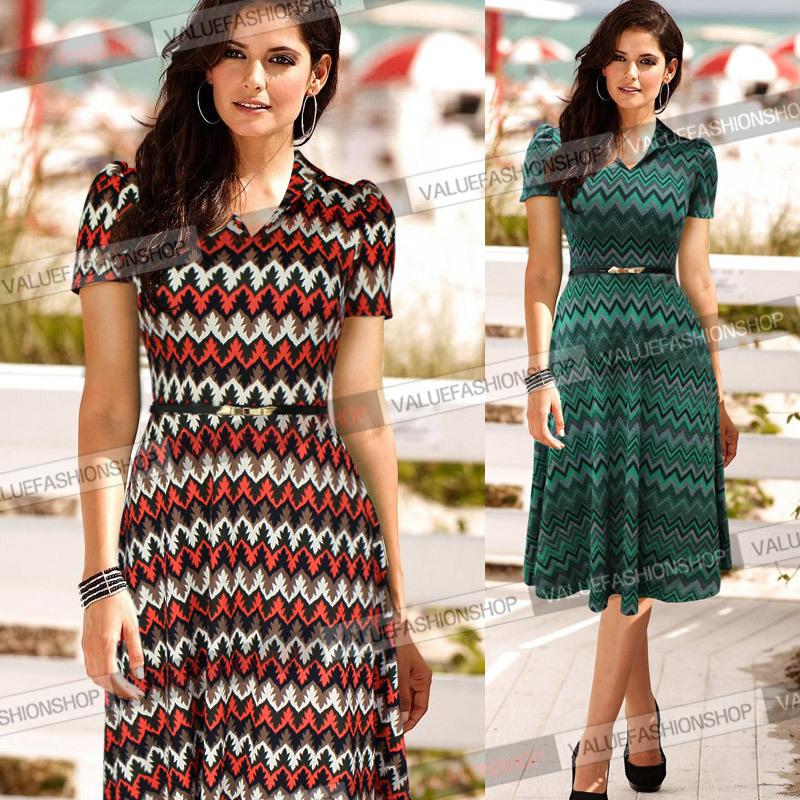 Женское платье VfEmage 2015 Pinup Midi Vestidos 271 T271 женское платье vfemage xl 797 a797