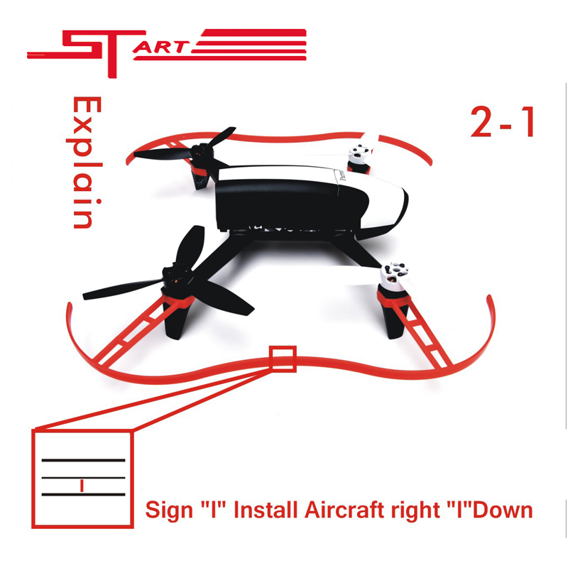 2016 Parrot Propeller Prop Protective Guard Bumper Protector for Rc Drone Parrot Bebop 2.0 Quadcopter White Red Fast Shiping