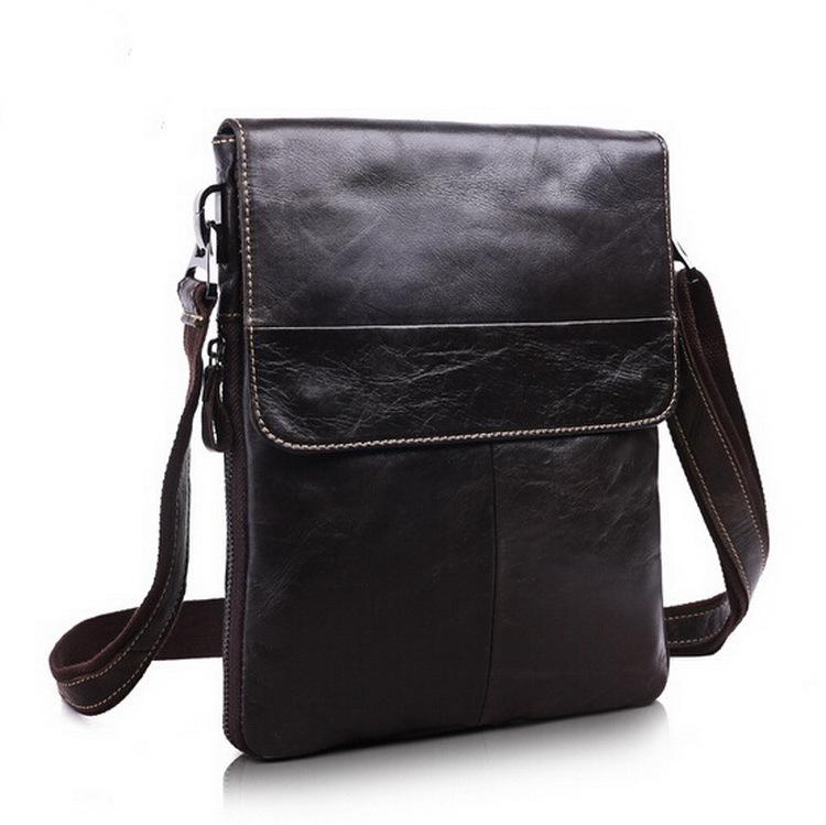 Hot selling Men bag 100% Genuine Leather bags men Messenger Bags crossbody mens Shoulder men's travel bag 2015 new Free Shipping(China (Mainland))