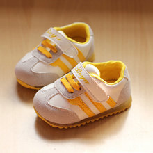 Children Shoes 2014 hot sale baby sneakers little boys girls shoes with lighting toddler shoes first walkers retail & wholesale(China (Mainland))
