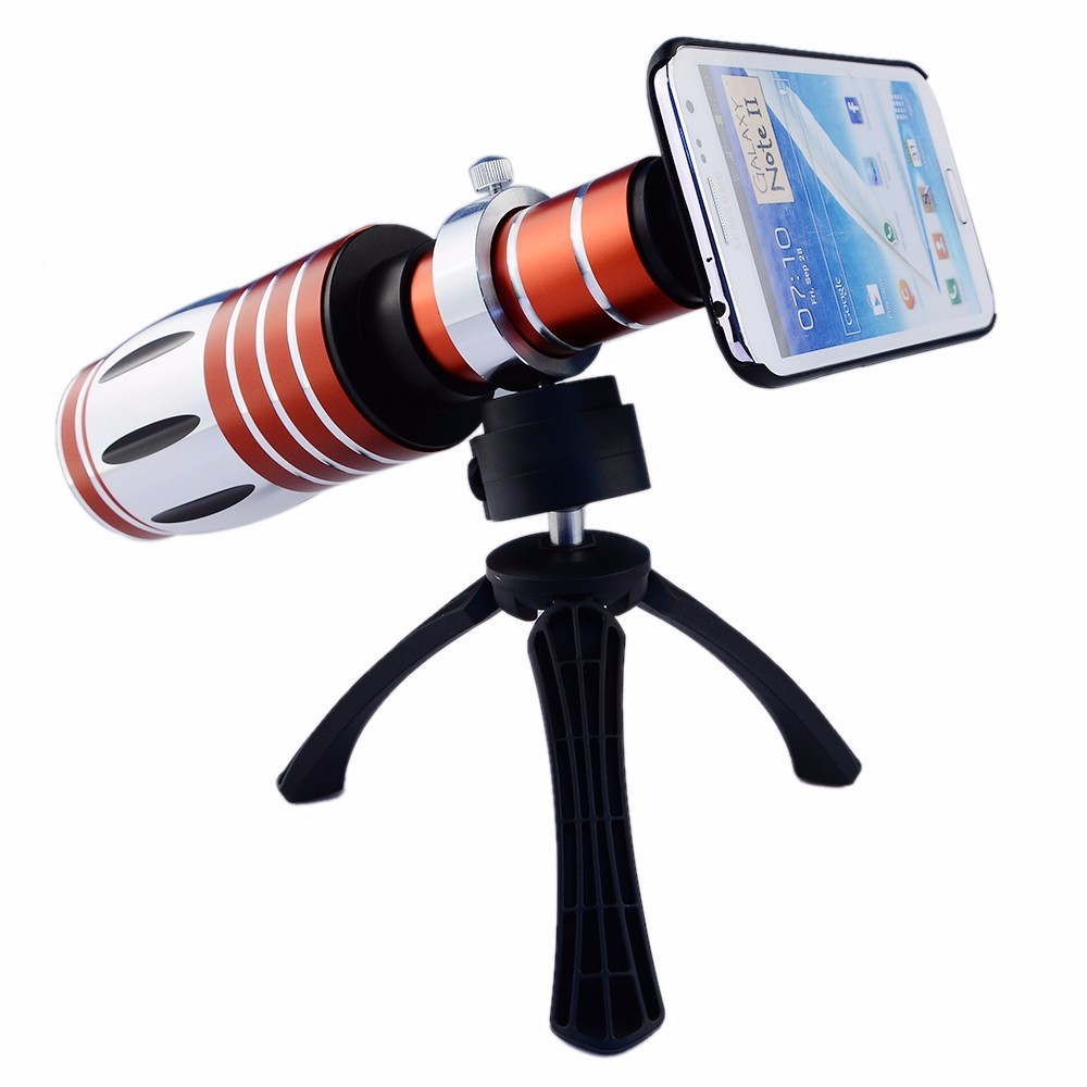 High-end 3in1 50X Metal Telephoto Zoom Lens For iPhone 5 5s 6 6s 7 Plus Telescope Mobile Phone Camera Lenses Kit For Samsung