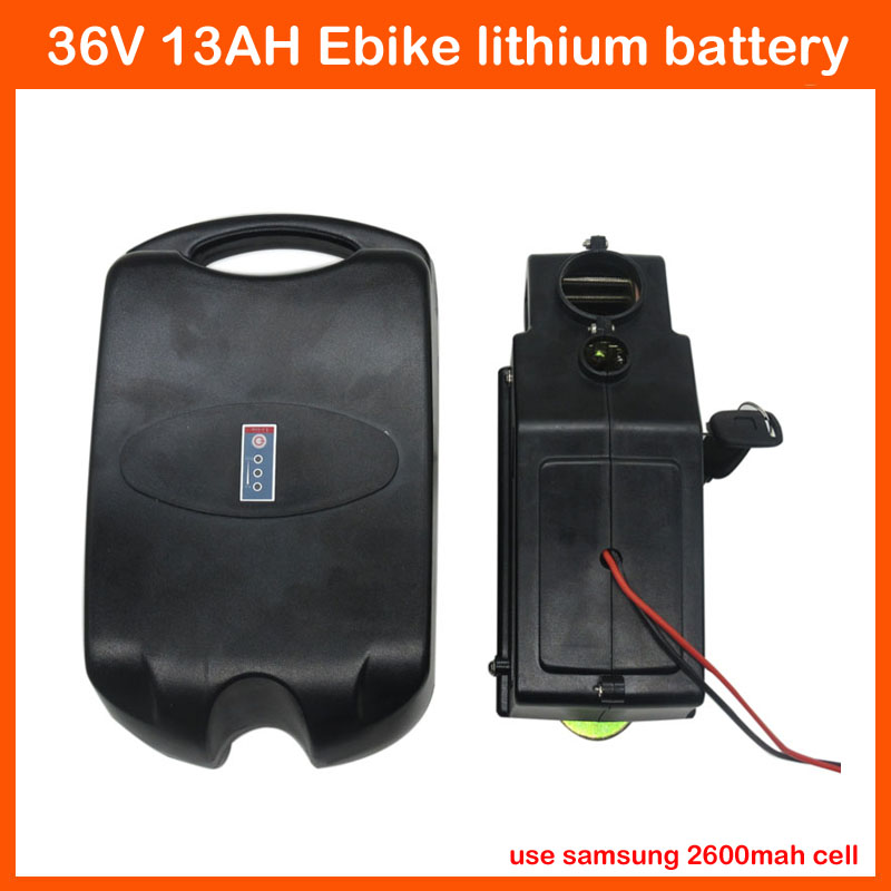 500W 36V Lithium Battery 36V 13AH Electric Bike Ebike Bicycle Battery Use samsung 2600mah cell with 15A BMS 42V 2A charger(China (Mainland))
