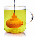 New Arrival Tea Sub Yellow Submarine Loose Leaf Herbal Spice Infuser Silicone Spice