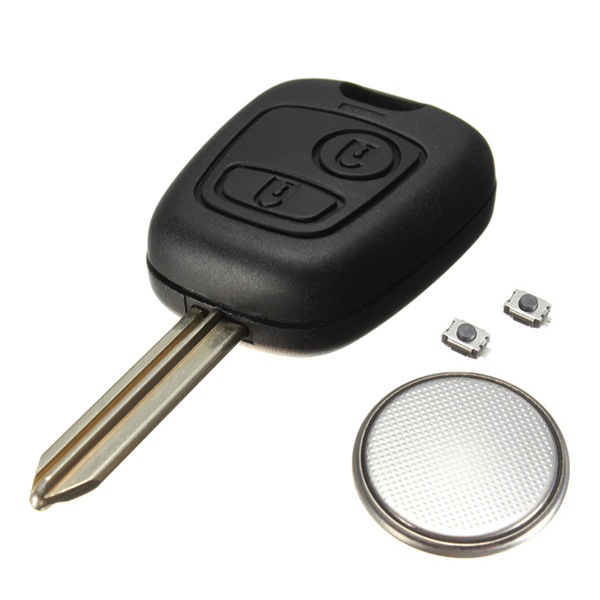 2 button remote key fob case for citroen saxo xsara picasso berlingo battery in tire. Black Bedroom Furniture Sets. Home Design Ideas
