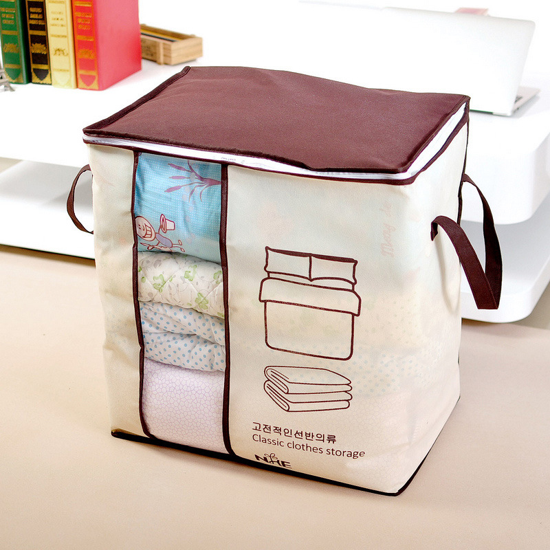 Non-woven receive clothes quilt bag large finishing dust in the Luggage Organizer Storage Bag Vacuum Clothes Bags Wardrobe(China (Mainland))