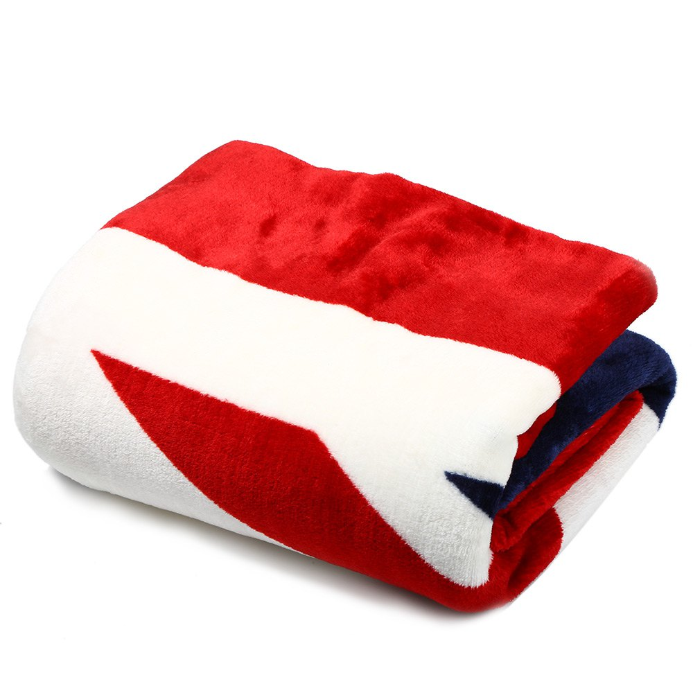 promotion 150 x 200cm uk flag soft warm comfortable coral fleece fashion blanket flannel plaid