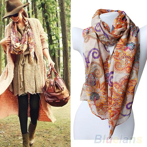 2013 New Women's Cotton Blends Totem Retro Bohemia Scarf Shawl Noble Floral Scarves 000I(China (Mainland))