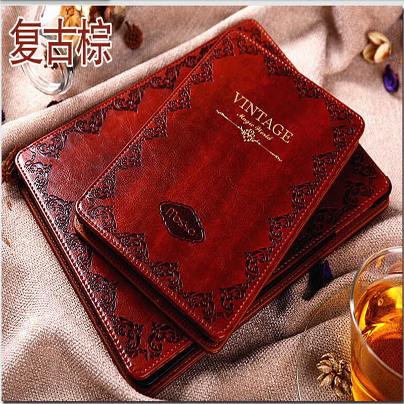 Original korea mosso tablet case for ipad pro 9.7 leather cover luxury retro flowers edge with package(China (Mainland))