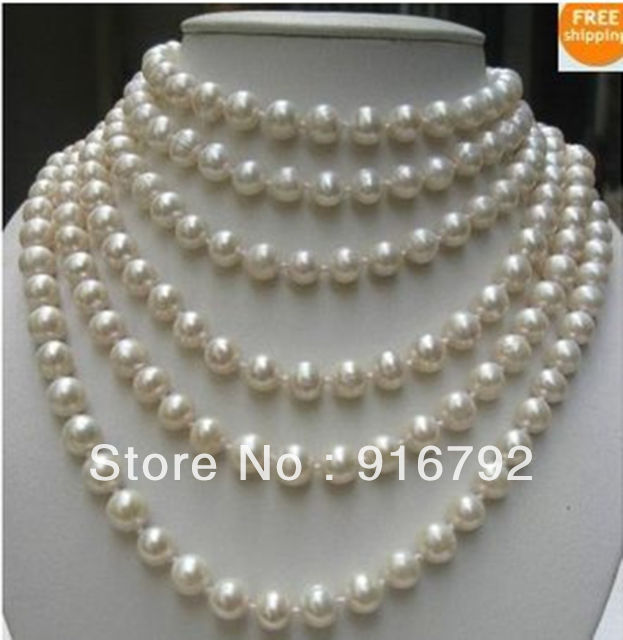 free P&amp;P ***** BEAUTIFUL100 INCH WHITE AKOYA PEARL NECKLACE 10mm AAA<br><br>Aliexpress