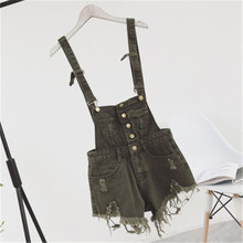 Cbucyi nueva Vogue mujeres Denim playsuits salopette Correas corto romper Loose casual Monos Pantalones cortos Mamelucos Ladies playsuit(China)
