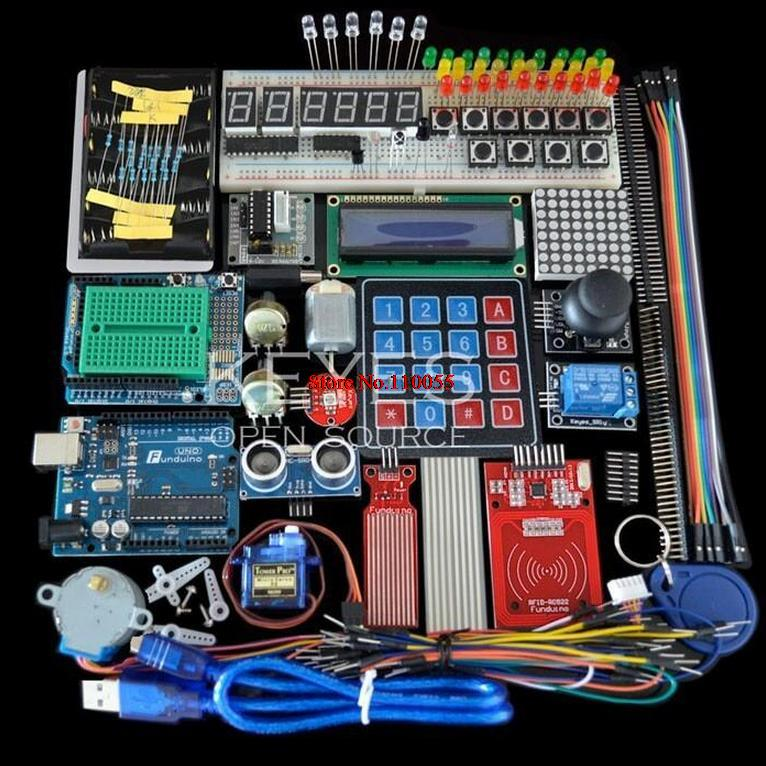 Starter kit for arduino uno r breadboard and