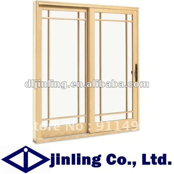 Buy solid teak wood doors wood frame for Glass door with wooden frame