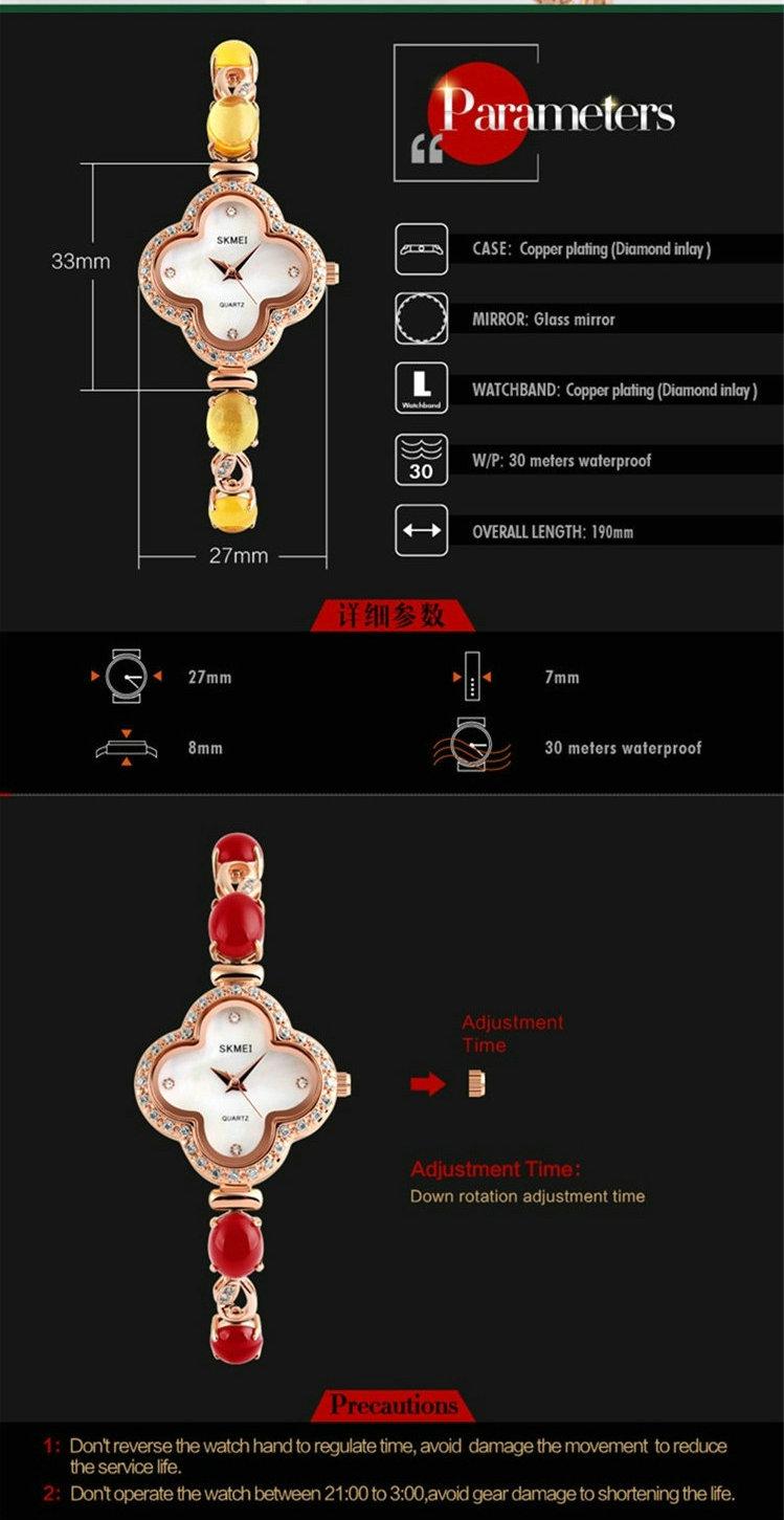 Skmei Кварцевые Наручные Часы леди часы фантазии braceletSimple Воды Resistantwatches для женщин новые