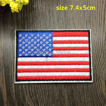 Buy WL iron 10 pcs US flag Embroidered patch sew Motif Applique garment embroidery cartoon patch DIY accessory for $3.73 in AliExpress store