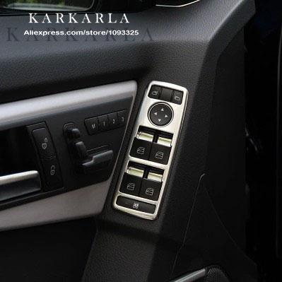 car interior chrome door window switch panel cover trim for mercedes benz a b c e cla glk gl. Black Bedroom Furniture Sets. Home Design Ideas