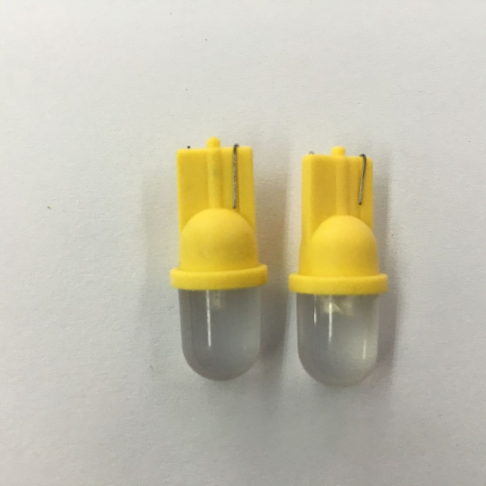 T10 0.2W Yellow light LED Bulb Car Signal Lamp (12V / Pair)(China (Mainland))