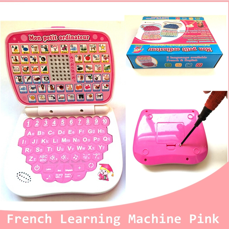 High Quality 1 Pcs French&English laptop Computer learning & education Toy French Learning Machine For Kids christmas Gift(China (Mainland))