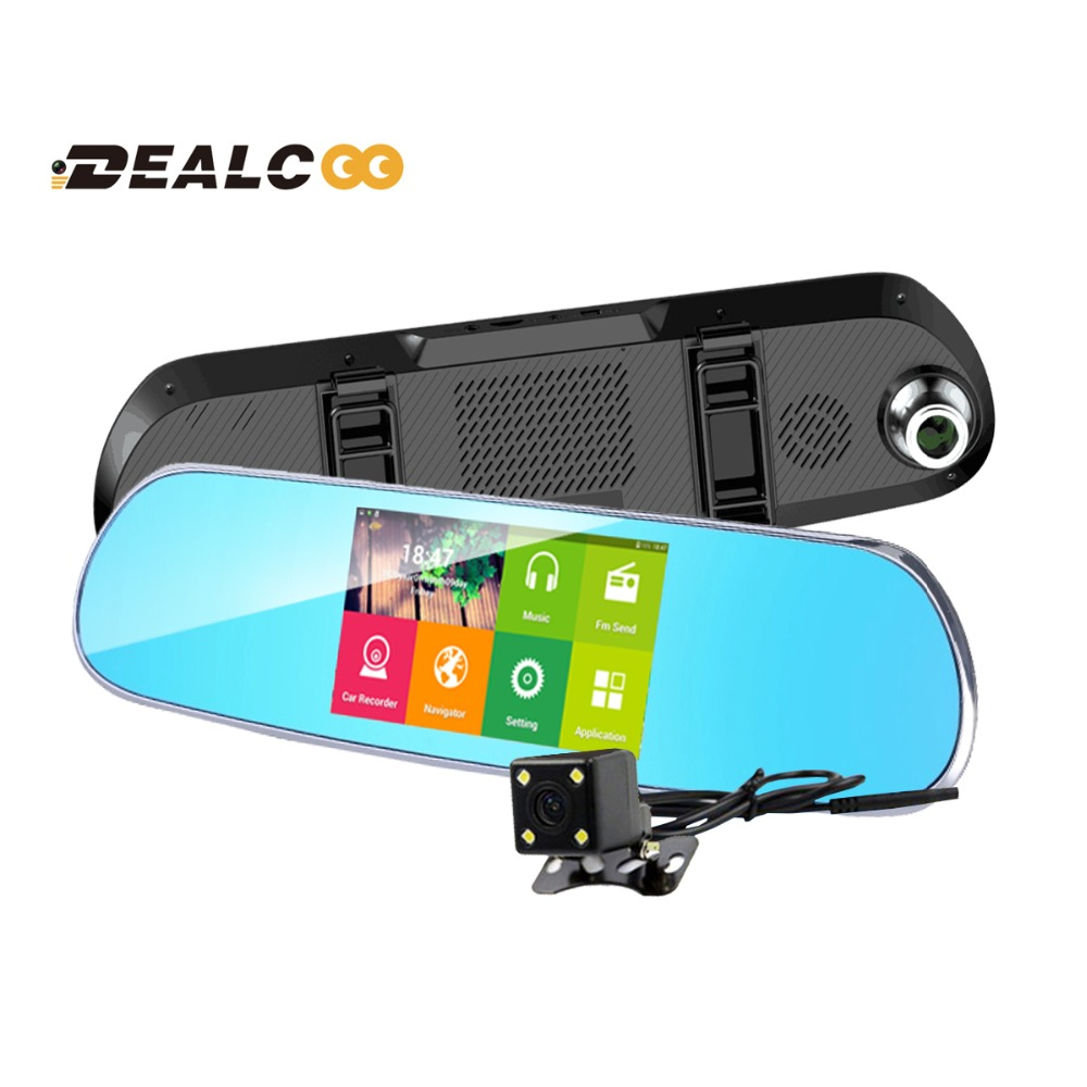 Best 5 inch Special Car DVR GPS Android Rearview mirror no Bluetooth Monitor 1080P Dual Lens Camera Video GPS Navigation dvrs(China (Mainland))