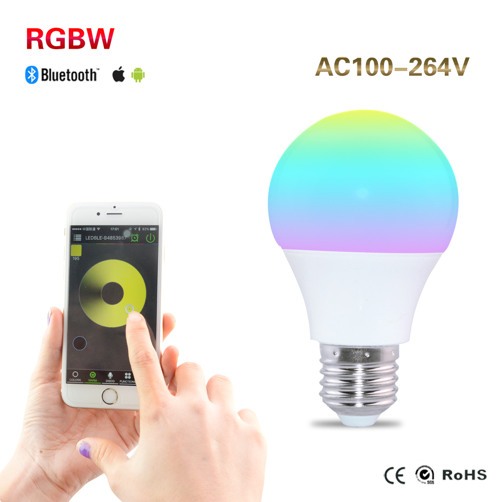 Mi Light 4.5W E27 RGB Smart Bluetooth 4.0 LED Light Color Change 85-265V Sublimation Your Experience(China (Mainland))