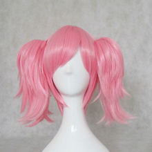 LOL LUX Pink Magic Girl Cosplay Costume Wig Free Shipping(China (Mainland))