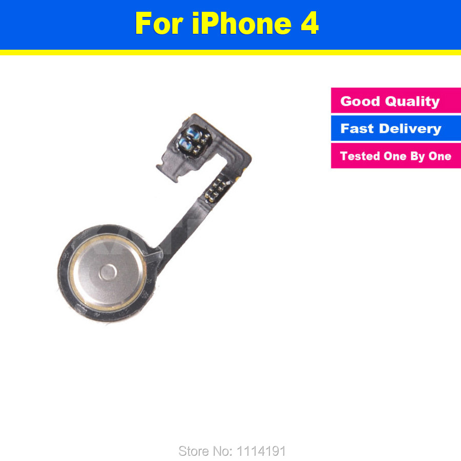 FREE SHIPPING 100% Original Quality Replacement for iPhone 4 4G Home Button Menu Return Flex Cable Accessories(China (Mainland))