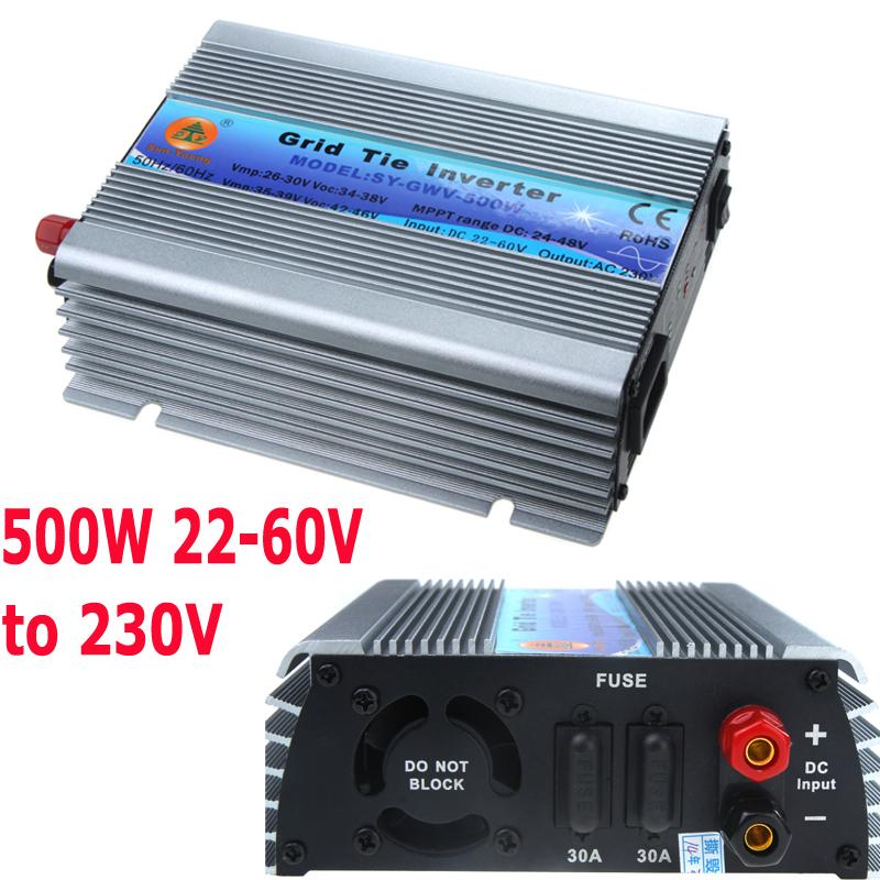 US Converters 500W Watt Electrical Micro Grid Tie Inverter Accept Voltage DC 22-60 AC 110V Solar Power Pure Sine Wave(China (Mainland))