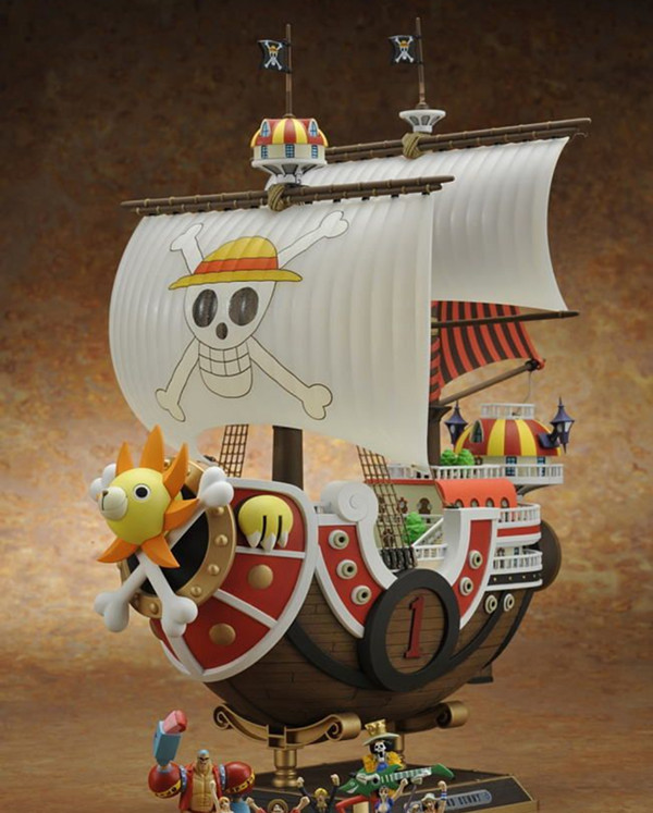 One Piece THOUSAND SUNNY Ship Action Figure Special Japanese Anime Figure pvc 35CM Model free shipping(China (Mainland))