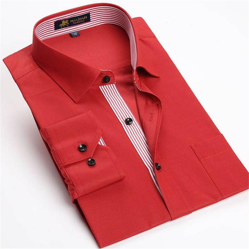 Free shipping XS-XXXL Brand shirts Bamboo Fibre red dress shirt men New style MZ-1884(China (Mainland))