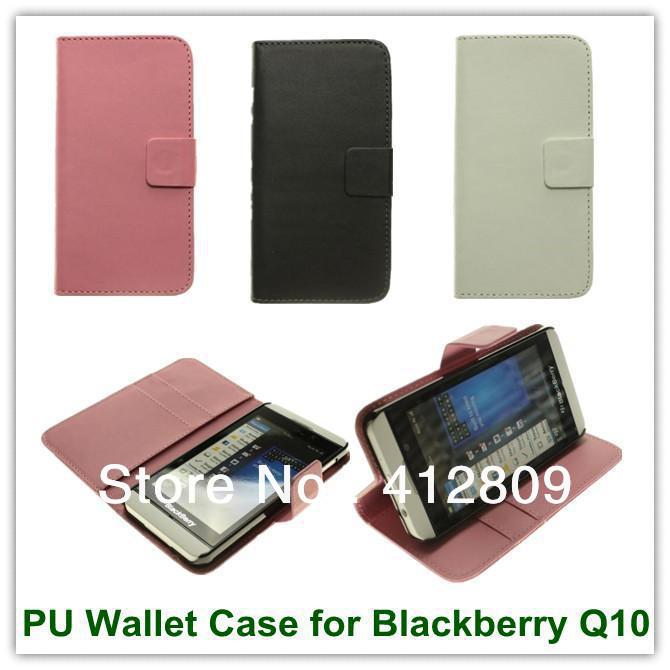 New Arrival Tabby Plain Weave Pattern PU Wallet Slot Stand Back Skin Covers Case for Blackberry Z10 Free Shipping(China (Mainland))