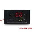 DC 0 600V 1000A Voltage Ampere meter led panel digital Voltmeter Ammeter Power supply DC 3
