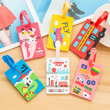 New Cute 3D Cartoon Plastic Luggage tag Travel Luggage Suitcase Baggage Travel bag Boarding tag Lovely Address Label Name ID Tag(China (Mainland))