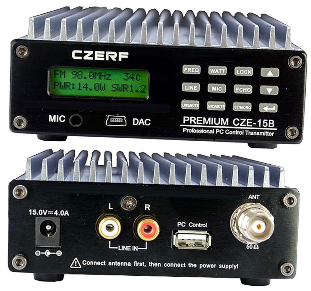 FM Transmitter 0.3-15W PC Control broadcast radio station 15KM SDA-15B full kit(China (Mainland))
