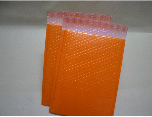 orange color bubble mail bag , colorful poly bubble mailer , shipping bubble envelope orange(China (Mainland))